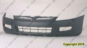 Bumper Front Coupe Primed With Fog Light Hole Manual Transmission 6-Cylinder CAPA Honda Accord 2003-2005