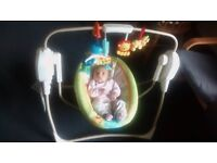 Fisher-Price Rainforest SpaceSaver Cradle and swing