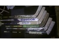 Ice Hockey Sticks, goalie sticks, pads skates reebok ccm nike baurer
