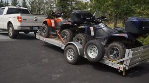 2 Barely Used Quads/4 Wheelers - Arctic Cats + Trailer