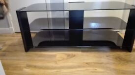 black and glass TV unit fits upto 50 inch TV
