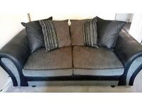 Small 3 seater sofa and matching footstool