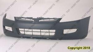 Bumper Front Coupe Primed With  Fog Lamp Hole Manual Transmission 6-Cylinder Honda Accord 2003-2005