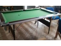 Pool table - a few rips but can easily be fixed