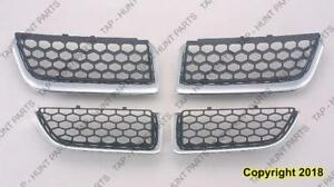 Grille Matt-Black With Chrome Moulding 4 Pcs Design Sedan Ford Explorer 2004-2006