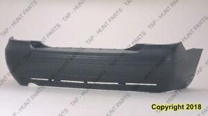Bumper Rear Primed Sedan Ford Focus 2005-2007