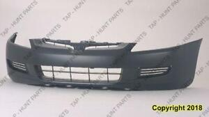 Bumper Front Primed Coupe 4-Cylinder All 6-Cylinder Automatic Transmission Without Fog Hole Honda Accord 2003-2005