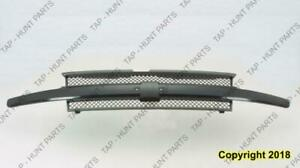 Grille With Black Mold Without Head Light Washers Chevrolet Trailblazer 2004-2009
