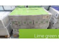 Lime green Johnson glazed tiles 150mmx150mm, 44 per box. Brand new boxed. Collection