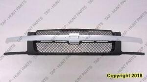 Grille Black With Chrome Moudling With Body Cladding Chevrolet Avalanche 2002-2006
