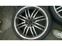 "Wolfrace alloy wheels 18"" 4x100 4x108 set of 4. e30 audi 80"