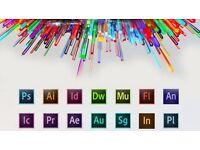 ADOBE Photoshop, After Effects, Dreamweaver, Illustrator, Premiere pro, Indesign, Fireworks, Acorbat