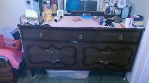 Retro 7 Drawer Dresser with Miror