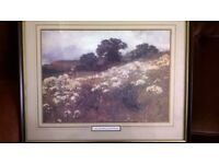 Print by John Mallord Bromley - Across the Fields