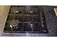Black built-in gas hob for bottled gas.