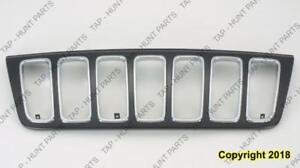 Grille Black With Chrome Frontame Ltd Jeep Grand Cherokee 2001-2003