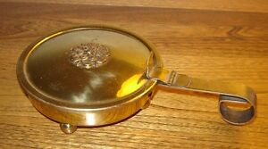 "Vintage ""Silent Butler"" Brass Ashtray"