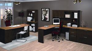 3-piece U-Shape Office Desk and Lateral File Set (Like New)