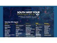 2 x Saturday tickets SW4