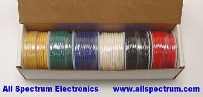 Hook Up Wire Set 20awg Solid Core Ulcsa 6 X 25 Ft Spools Blkrdygbw