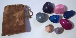 Colorful Natural and Dyed Tumbled Stone Mix