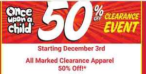 50% off all clearanced items!!