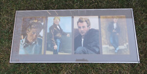 JAMES DEAN FRAMED COLLAGE OF 4 PICTURES