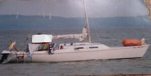 Pearson 22 Foot Sailboat, trailer and motor