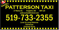 Kingsville Taxi Driver Wanted! Part-time, weekday/weekends!