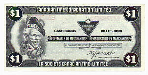 1985 $1.00 CTC CANADIAN TIRE MONEY NOTE coupon B3-7