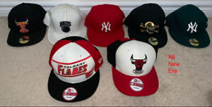 Snapback hats, fitted hats, beanie togue- New Era, TISA, & More