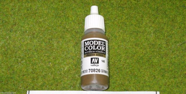 Vallejo Model Color GERMAN C. MEDIUM BROWN Paint 70826