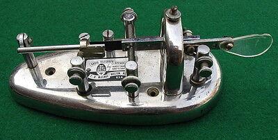 Vintage McElroy Radio Telegraph Transmitting Key MAC c.1930's