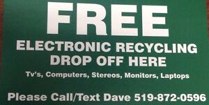 FREE pickup EWaste Electronics Tv