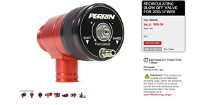 Perrin Reticulated Blow Off Valve (For Subaru WRX 2015+)