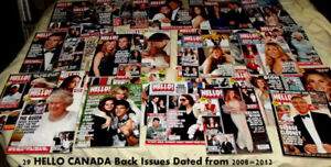 HELLO CANADA MAGAZINES 29 BACK ISSUES 2008=2012