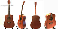 Solid top mahogany acoustic guitar brand new Chard iTS1600