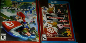 Nintendo Wii U games NES Remix and Mario kart 8