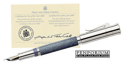 FABER CASTELL PEN OF THE YEAR 2005 STINGRAY LEATHER ANTHRACITE FOUNTAIN PEN