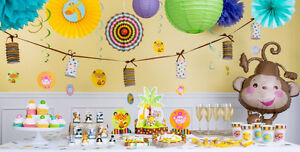 FISHER PRICE ANIMALS OF THE FOREST BABY SHOWER DECORATION SETS