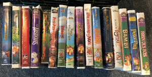 Lot de films en format VHS : Disney pour enfants