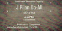 Do you need work done? Call J. Pilon Do-All today.