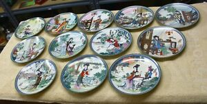 "Imperial Jingdezhen ""Dream of Red Mansions"" Plates  China"