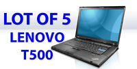 BLACK FRIDAY WHOLESALE SPECIAL LOT OF 5 LENOVO T500 2.2G/2GB/80G