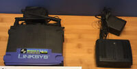 linksys router and speedtouch modem - Used with Taksavvy