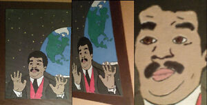 """""""We got a Badass over here"""" Neil Degrasse Tyson Acrylic painting"""