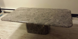 Marble coffee table with base - Grey