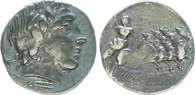 Römische Republik Denar 86 v.Ch., C. Gargonius, M.Vergilius, Ogulnius ss-vz