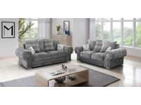 Free Delivery Brand new 3 + 2 Verona Grey on clearance Sale