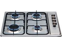 NEW CDA Four Burner 60cm Gas Hob in Stainless Steel - Camper Van / Kitchen